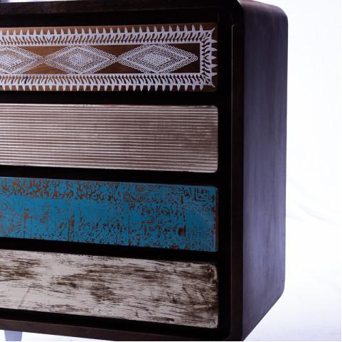 СВАРНА, комод массив, лофт с 4 ящиками